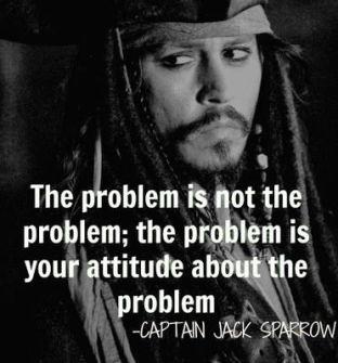 Sorun sorun değil; sorun senin sorunla ilgili tavrın.