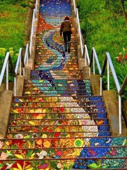 Secret Mosaic Staircase - San Fransisco