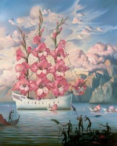 Arrival of the Flower Ship Vladimir Kush