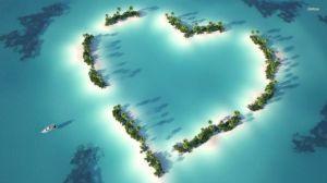 coral reef island