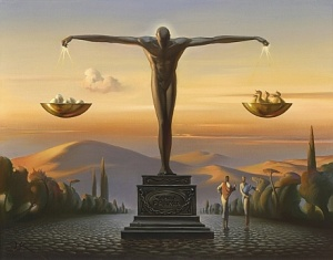 Pros And Cons - Vladimir Kush