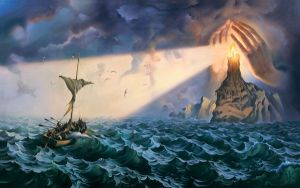 TO THE SAFE HAVEN  by Vladimir Kush