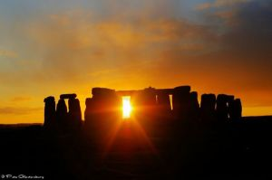 Stonehenge Solstice Sunset by Pete Glastonbury