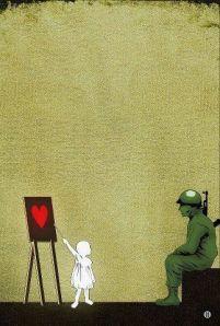 banksy teaching love