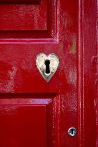 Heart door lock