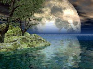 super full moon art