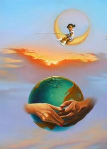 jim warren moon and earth