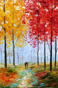 Karen Tarlton oil painting Autumn Romance