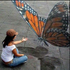 Street art butterfly