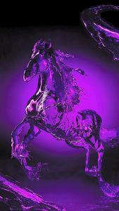 Violet horse