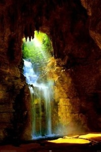 Amazing Cave Waterfall