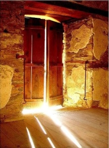sunlight coming through door