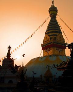 Golden Light Swayumbhunath Temple, Katmandu, Nepal