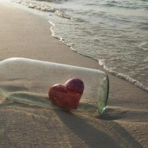 Heart in abottle