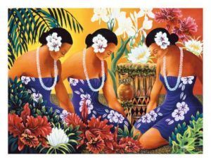 Silent Preparation, Hawaiian Hula Dancers by Warren Rapozo