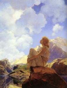 Maxfield Parrish - Morning (1922) painting was used for Life Magazine cover