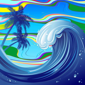 Sea Ocean big Wave by Bluedarkat Lem