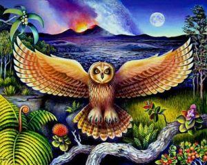 Pueo Kahu ( Guardian Owl) by Jessica Taruni