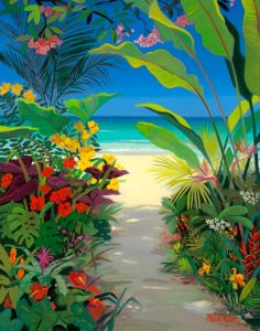 Tropical Carribean Island Beach Shari Erickson