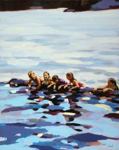 Elizabeth Lennie- Oil 2011 Painting On Rabbit Lake