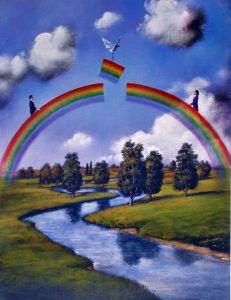Rafal Olbinski - Rainbow