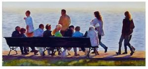 Crowded bench - Graham Berry
