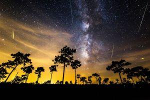 Rim Of A Hawaiian Volcano With Milky Way Background