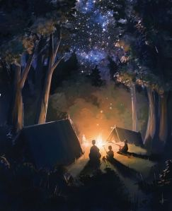 The Art Of Animation, camp fire