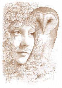 Blodeuwedd (welsh goddess) and owl