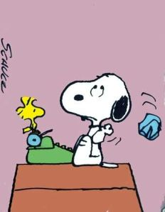 Snoopy writers block