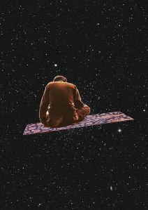 flying carpet collage by Eugenia Loli