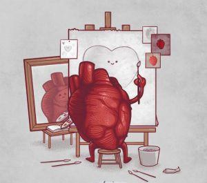 heart self portrait