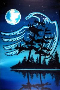 william-monague-ojibwa-art-blue-moon-more