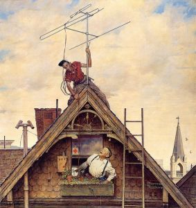 1949-new-television-antenna-norman-rockwell
