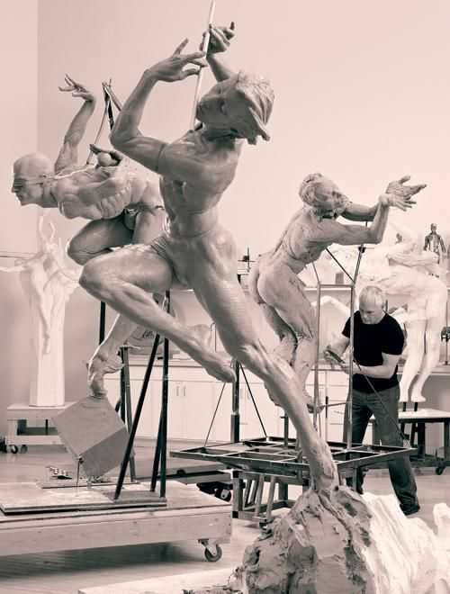 Artist Richard MacDonald at work