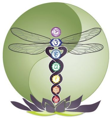 Dragonfly & Chakra caduceus
