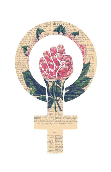 Feminism Power Fist Raised Fist Art Print by Raspberryleaves