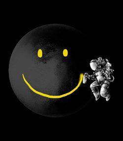 Smiley Moon - artist unknown