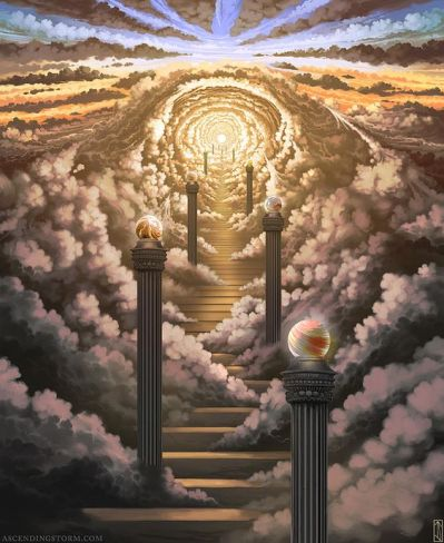 Artist Unknown - stairs to heaven