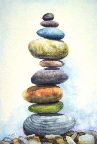Balance - pastel watercolor