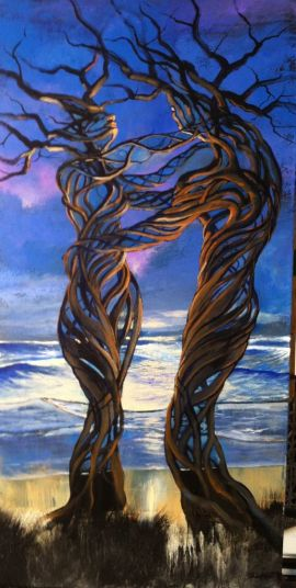 Ford Smith - Driftwood Couple Painting