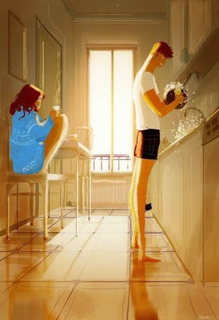 Pascal Campion - dishes in the morning