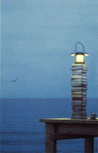 Unknown artist - book beacon