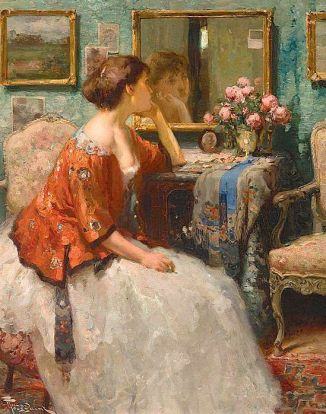 The Mirror by Fernand Toussaint