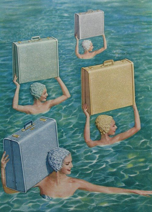 synchronized swimming - artist unknown