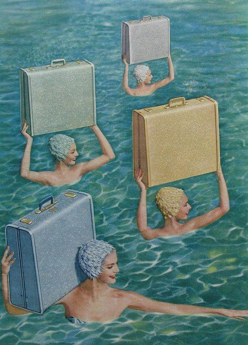 synchronized swimming - artist unknown