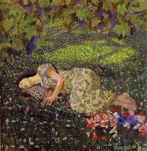 Felice Casorati Dreaming Of Pomegranates 1912