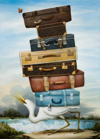 Kevin Sloan Art Luggage