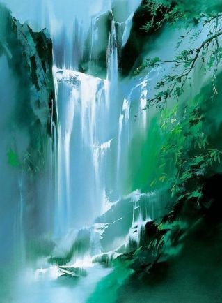 Waterfall abstract - unknown artist
