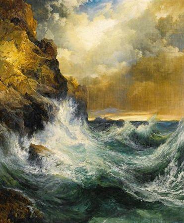 Receding Wave - Thomas Moran